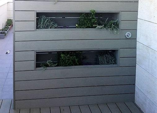Jardinera composite diseño Madrid