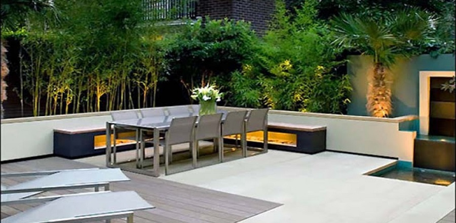 Patios modernos la patioteca reformas de jardines y for Jardines de patios modernos